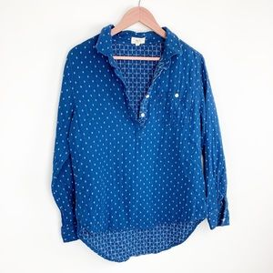 Per Se partial button down shirt